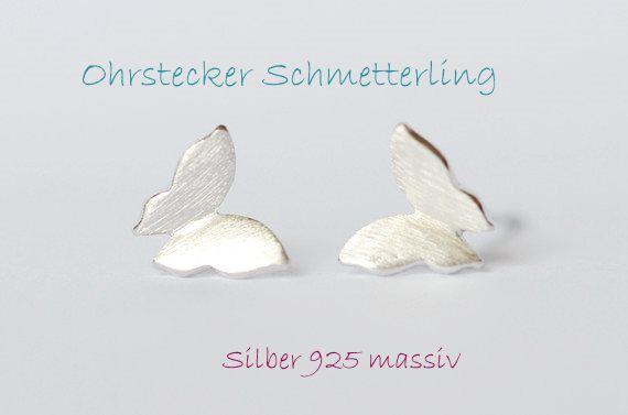 Ohrstecker Silber 925 Schmetterling von DeineSchmuckFreundin - Schmuck und Accessoires auf DaWanda.com