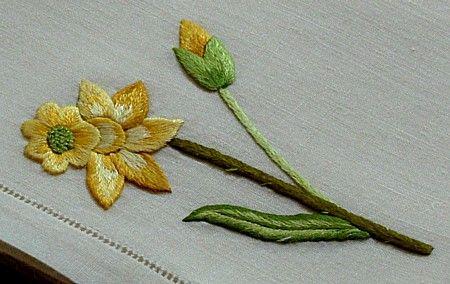 Em's Heart Antique Linens -Antique Society Silk Embroidered Napkins