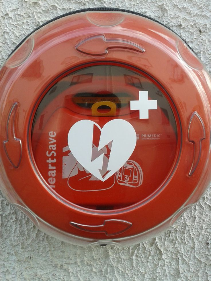 Rotaid AED cabinet in red