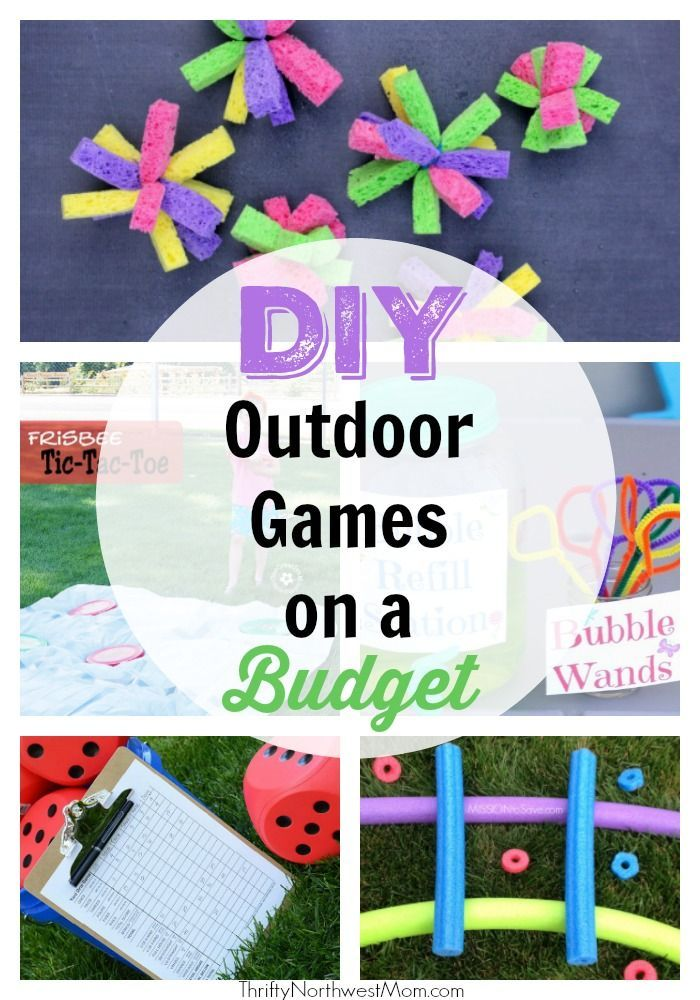 These DIY Outdoor Summer Games on a Budget are perfect for keeping kids entertained all summer long.