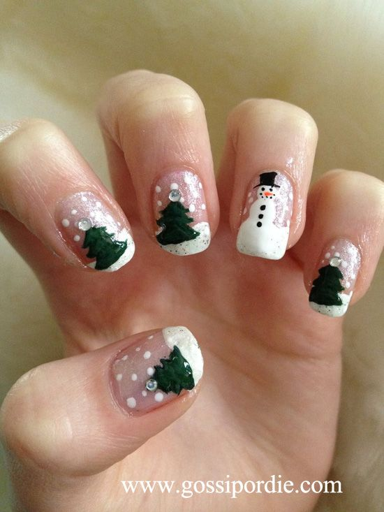 346 best christmas nails images on pinterest holiday nails 7 creative christmas nails prinsesfo Choice Image