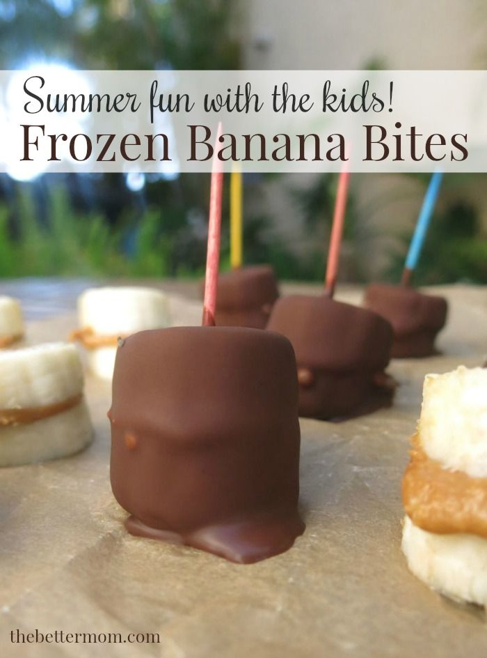 Summer break is officially here! One of our favorite frozen treats is this incredibly easy recipe – Frozen Banana Bites! Made with fresh banana slices, a dab of nut butter and homemade chocolate hard shell, these little bite-sized gems take only minutes to make and seconds to eat. (Warning: It's impossible to eat just one!)