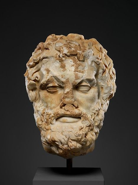 Marble head of a bearded man, 2nd century A.D. Roman. The Metropolitan Museum of Art, New York. Marguerite and Frank A. Cosgrove Jr. Fund, 1993 (1993.342) #mustache #movember