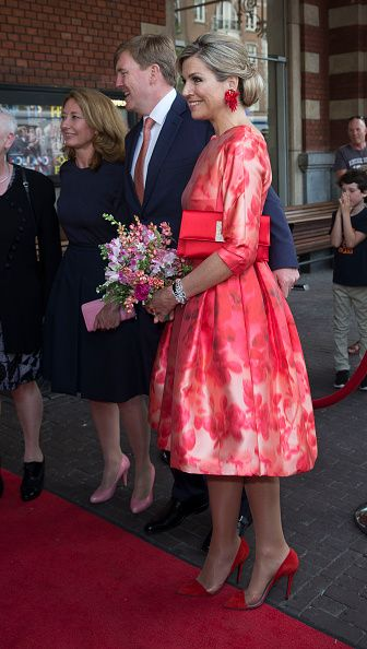 Royal Family Around the World: King Willem-Alexander And Queen Maxima Of The Netherlands Attend Opening Holland Festival on June 4 2016 in Amsterdam Netherlands.