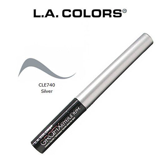 2 Pack LA Colors Cosmetics Grafix Liquid Eyeliner 740 Silver ** Check out this great product.