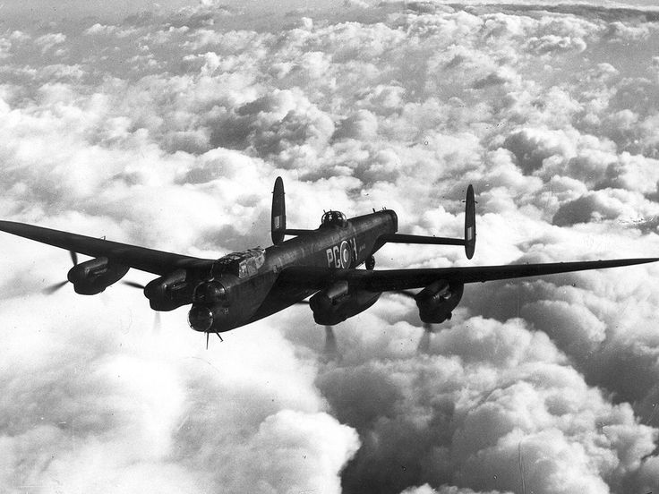 Avro Lancaster Bomber. WWII aircraft.