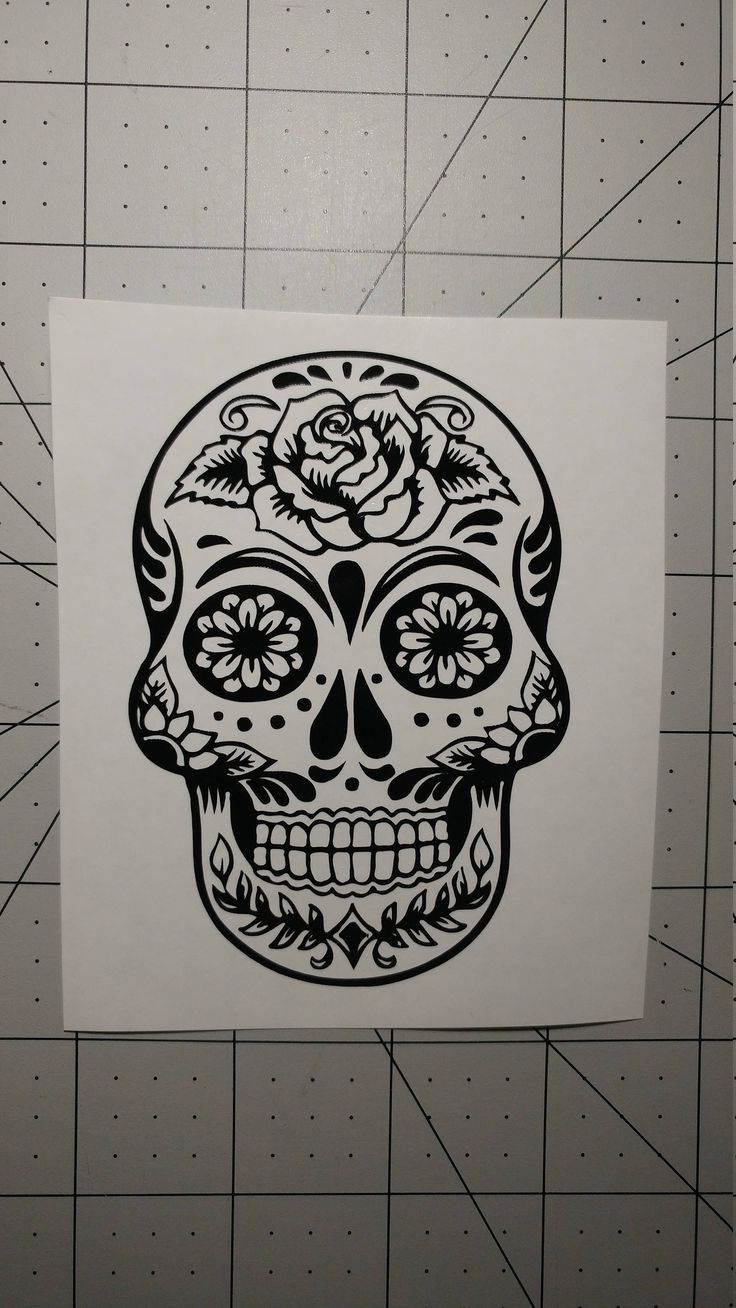 Sugar Skull Vinyl, Skull Vinyl Decal, Custom Decal, Car