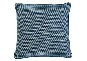 Chevron Teal Pillow