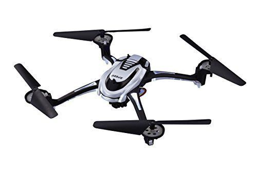 Space Rails 4-Channel 2.4 GHz Remote Control Quadcopter Drone with HD Video Camera, Silver by Lil' Diner - http://www.midronepro.com/producto/space-rails-4-channel-2-4-ghz-remote-control-quadcopter-drone-with-hd-video-camera-silver-by-lil-diner/