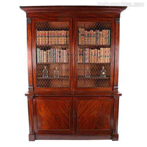 George IV Mahogany Bookcase - Antiques Atlas