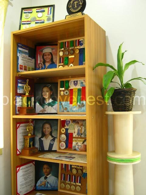 Award display shelves