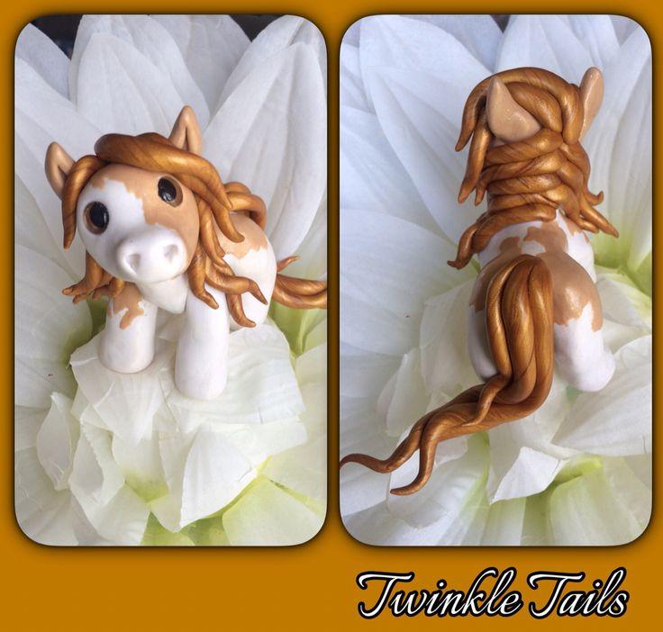 Butterscotch Truffle paint horse pony! #pony www.facebook.com/TwinkleTails www.etsy.com/shop/TwinkleTailsGallery