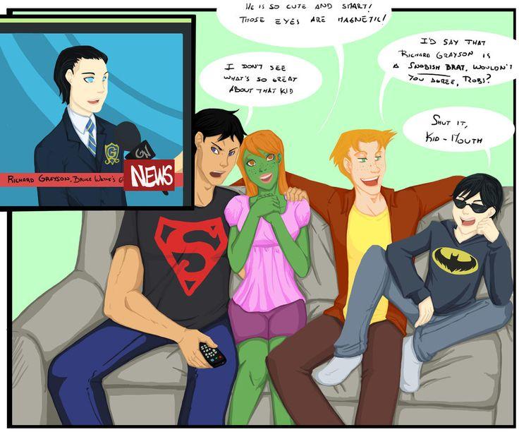 Dick Grayson on the news by Sakurita94 on deviantART