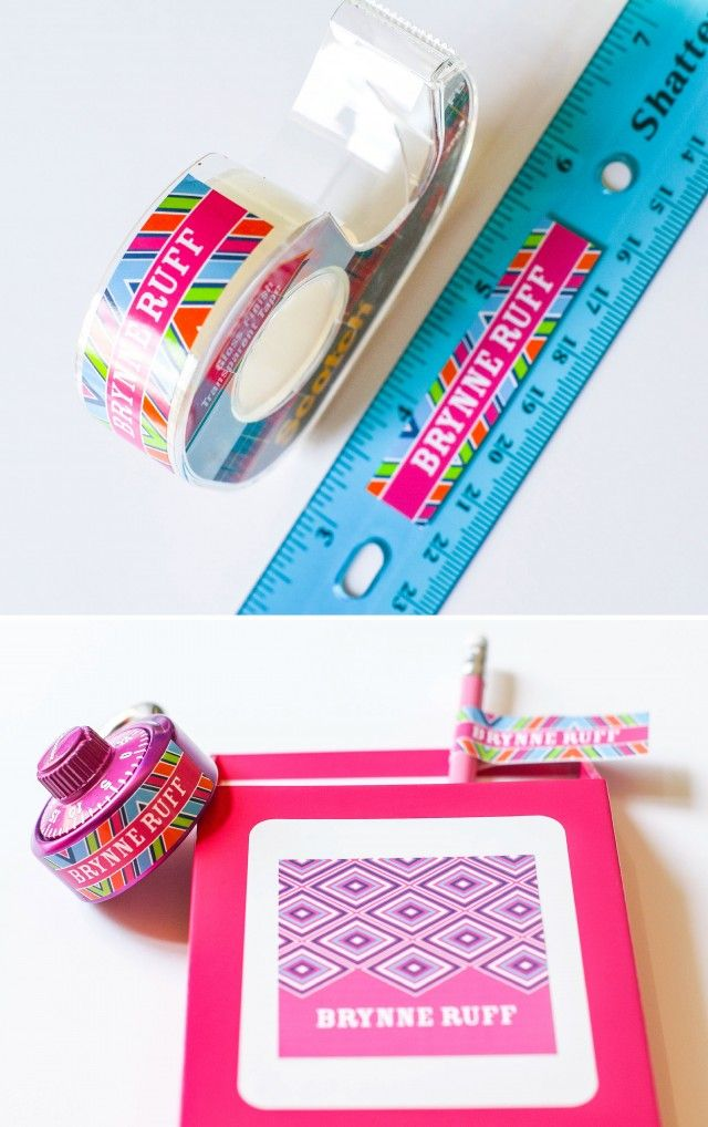 Awesome Personalized Printable Labels For School Supplies In Trendy Patterns For  Boys And Girls! Editable File