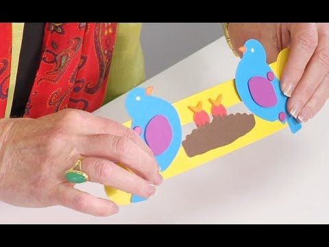 When you create this fun and easy Bird Pull Toy, you can actually lower the mother bird's head to feed the baby birds. Think that's great? Wait until your students start suggesting ideas of their own for animation!