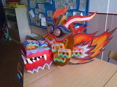 UN DRAGÓN CHINO EN PUERTO SERRANO   Esto es lo que preparamos para el pasacalles escolar de el curso 2012-13, iba a ser nuestro último pasa...