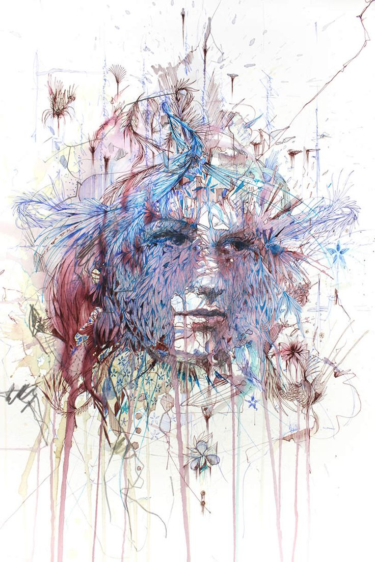 Illusion: Aside from using watercolor, calligraphy ink and graphite, Carne Griffiths also uses beverages like tea, brandy and vodka to make some of his splashy portraits http://illusion.scene360.com/art/45350/art-with-tea-and-vodka/