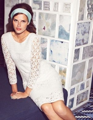 @BodenClothing Hand Crochet Dress