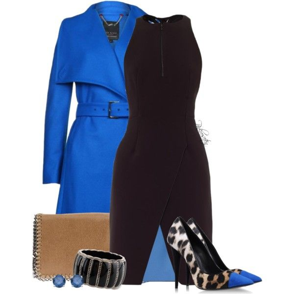 A fashion look from October 2013 featuring Dion Lee dresses, Ted Baker coats and Giuseppe Zanotti pumps. Browse and shop related looks.
