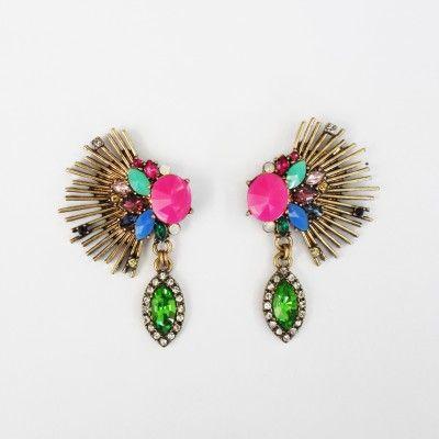 Redcurrent Elaborate Fluoro Pink Earrings