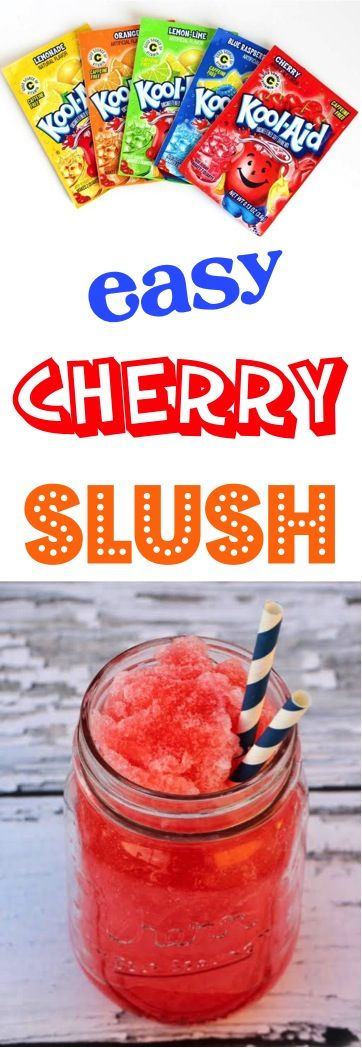 Cherry Recipes! This Slushie beverage is a refreshing drink perfect for the summer months!