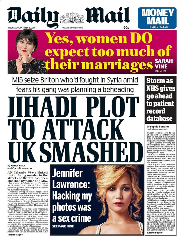 Daily Mail - 08.10.2014