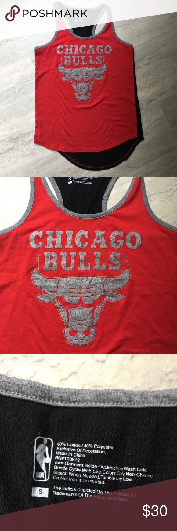 Chicago bulls NBA tank top NBA Chicago Bulls. New without tags. Red black and grey tank top. Size small. Offers welcome, no trades. AD408 NBA Tops Tank Tops