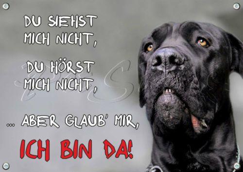 Hunde-Warnschild-Cane-Corso-Metallschild-TOP-TIPP
