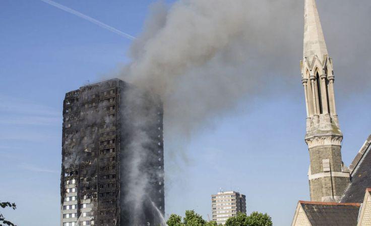 Huge fire in London tower block kills at least six people