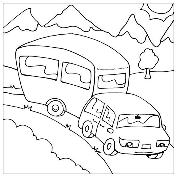 * Op vakantie met de caravan!