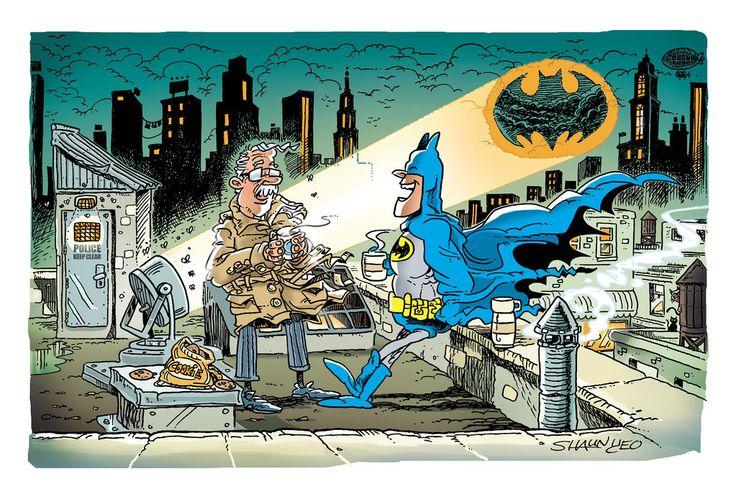 Batman - Coffee Break by Yeo