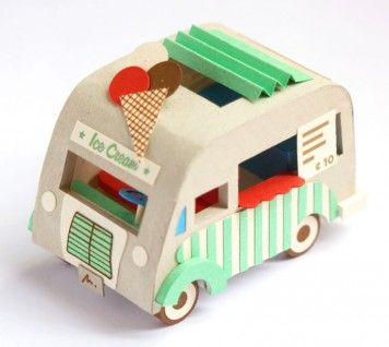 This. Is a tutorial for a tiny paper ice cream truck that fits in the palm of your hand. I die.
