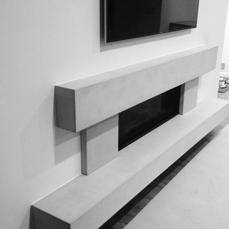 Concrete Fireplace surround by JM Lifestyles