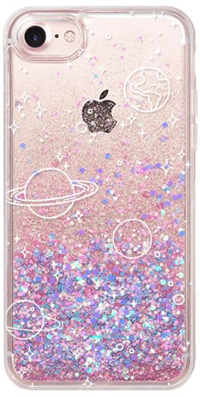 Casetify iPhone 7 Glitter Case - UNIVERSE by KIND OF STYLE #Casetify