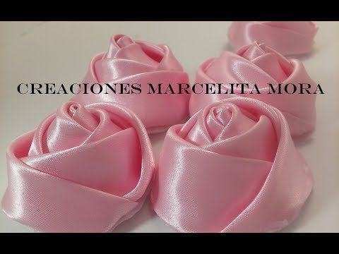 DIY-Como Hacer unos Botones Flor Rosas/ How To Make Botton Flower Rose CV/ - YouTube