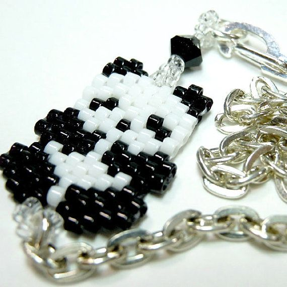 Hey, I found this really awesome Etsy listing at https://www.etsy.com/listing/195747187/7-beaded-panda-bracelet-on-silver-tone