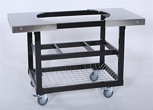 52 in. Cart w Basket and Stainless Steel Side Table
