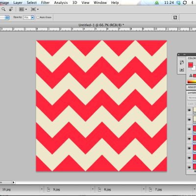 How to make a chevron pattern in Photoshop. You never know when a fun graphic design trick like this will come in handy.