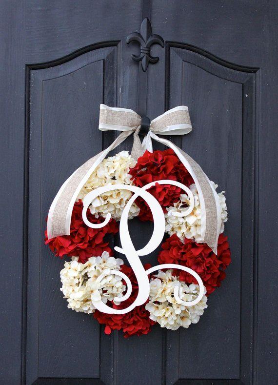 Burlap Wreath - Fall Wreaths - Summer Wreath for door - Summer Wreath - Home…