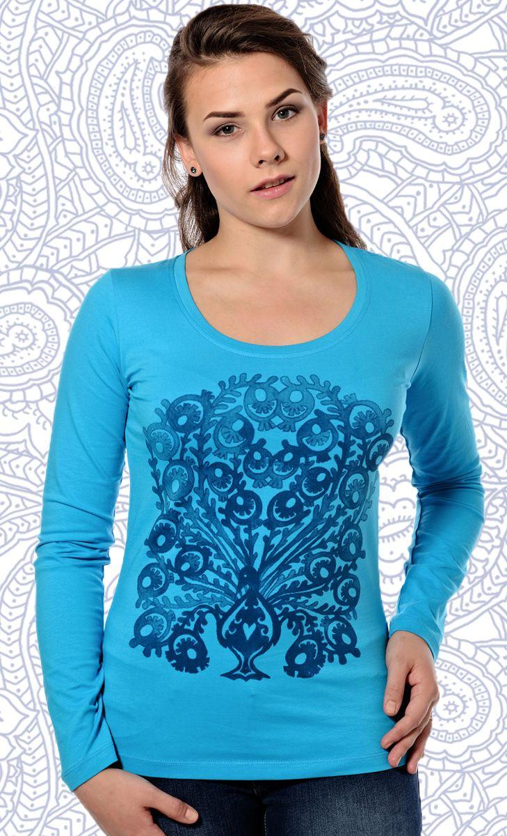 Peacock Printed Long Sleeve Tshirt | Mavango Fashion eStore