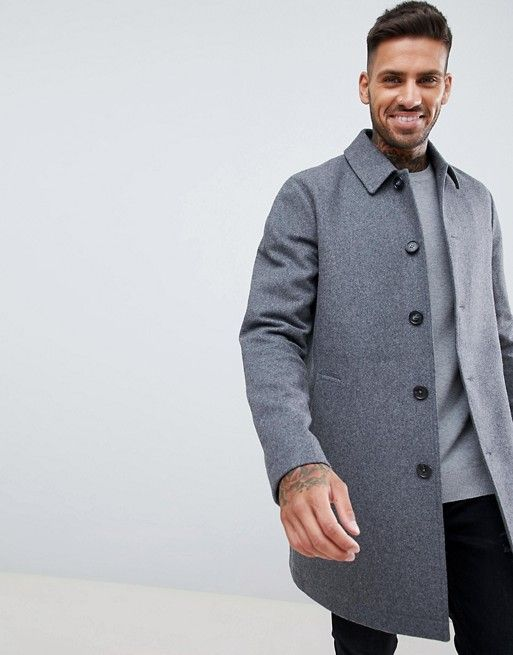 5e2863117593 DESIGN wool mix trench coat in light gray | Mens outfits | Coat ...