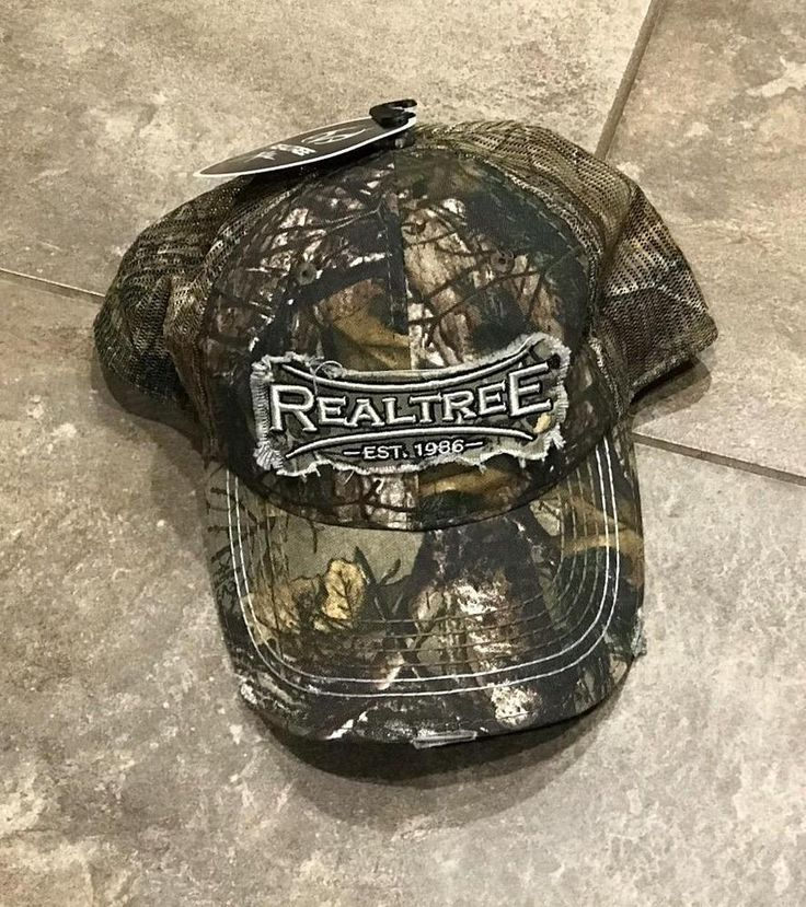 Real Tree Camo Baseball Hat, NEW WITH TAGS Adjustable Hunting Camouflage Print #RealTree