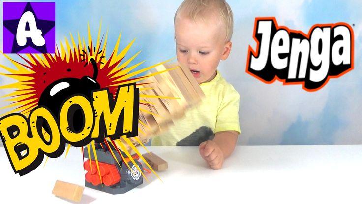 Развлечения для Детей Игра Дженга. Весёлая Игра для мальчиков и девочек. Алекс любит играть в разные игры и Дженга бум не исключение. Нужно вытаскивать блоки...
