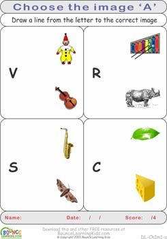 Find the image that begins with the specified letter:  http://bouncelearningkids.com/ws-choose-image/