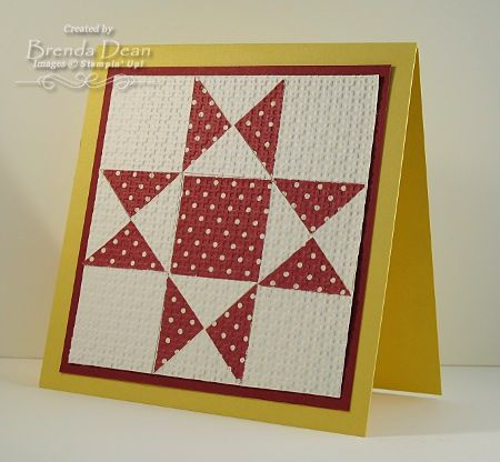 Ohio Star Quilt Block Card by bdindle - Cards and Paper Crafts at Splitcoaststampers