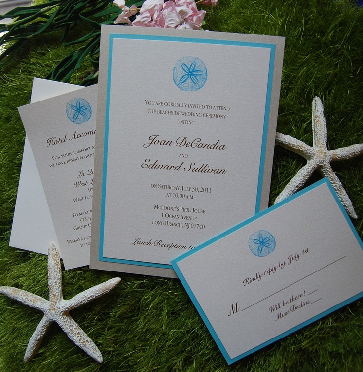 20 Best Sand Dollar Wedding Invitations Images On