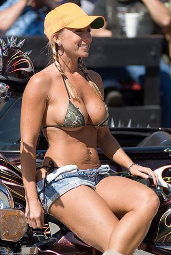 Mature motorcycle babe