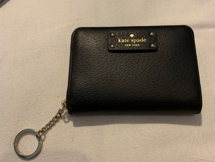 black mini kate spade keychain wallet perfect to attach