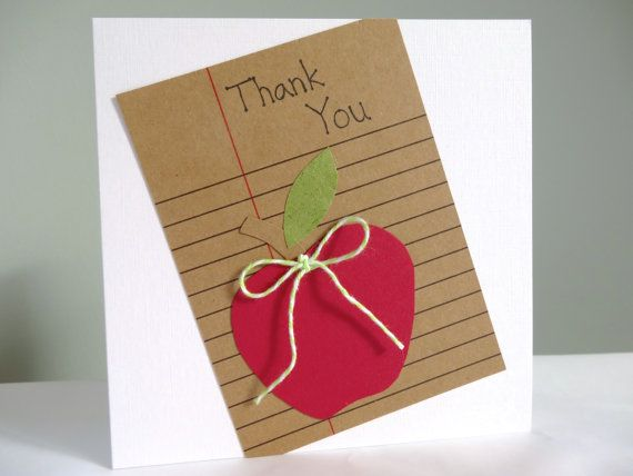Teacher appreciation card  thank you card for by FluffyDuck, £3.95