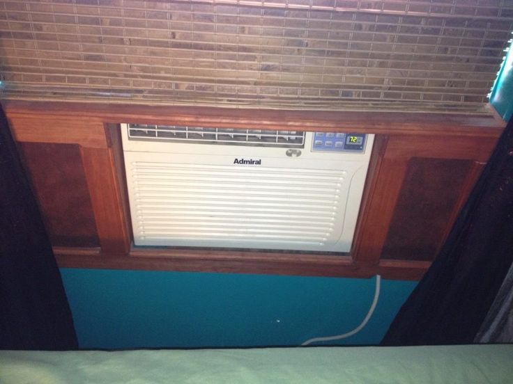 Looks better around a window unit AC than plastic accordion sides